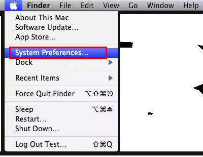 Go to System Preferences under Apple Menu